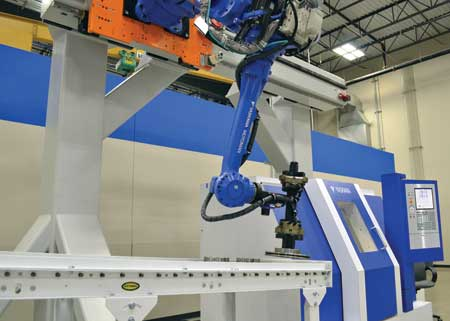 Rail Robot For Extended Reach Applications