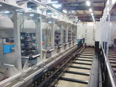 Husky corporation s mazak palletech 16 pallet high rise manufacturing