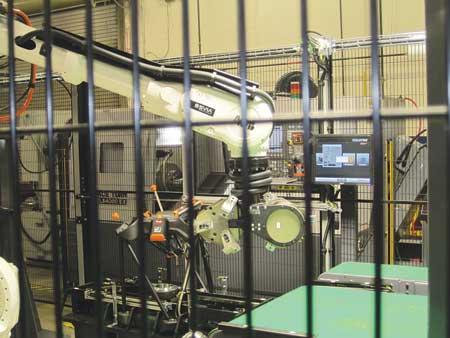 machine tending robot