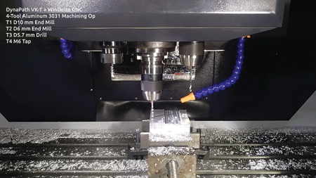 Knee Mill with Rigid Tapping and Automatic Tool Changer