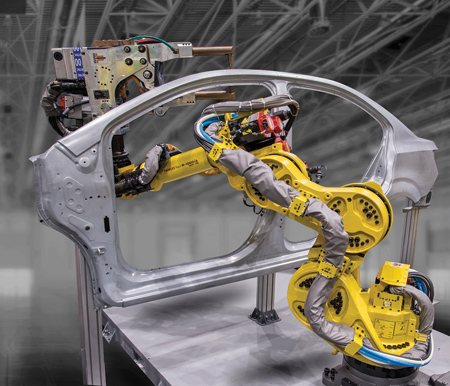Automotive Spot Welding with 7-Axis Robot