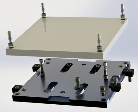 Quick Change Mechanical Receiver And Blank Pallet